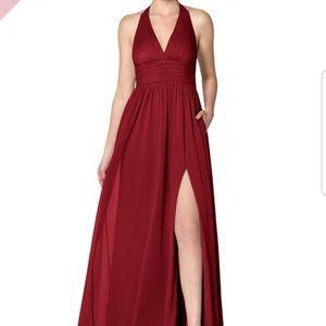 Azazie burgundy bridesmaid dress
